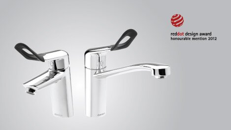 The different handle tap for bathroom and kitchen